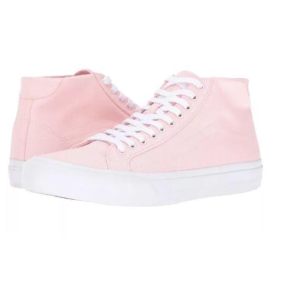 130d1e12aa Vans Court Mid Canvas Rose Quartz Pink Shoes 👠